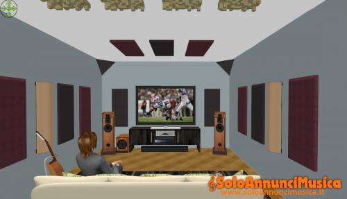 Trattamento acustico per Home Studio, Project Studio e Home Theatre.