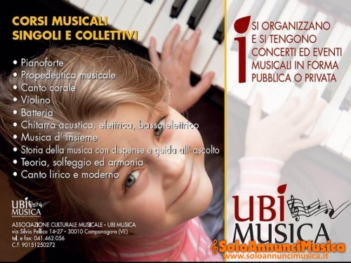 Corsi Musicali UBI MUSICA per tutte le età